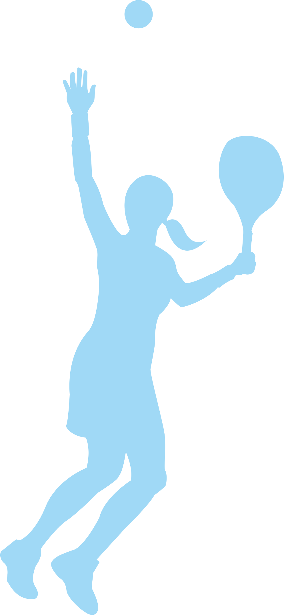 994x2154 Tennis Girl Adobe Illustrator Clip Art