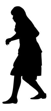 200x431 Free Man Silhouette Stock Photo