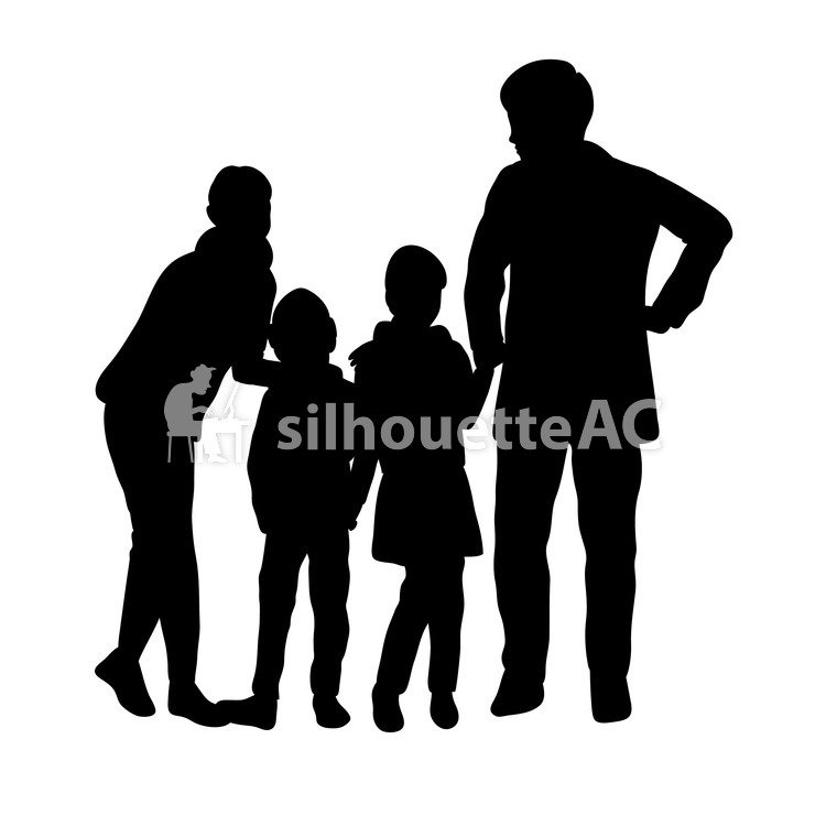 750x750 Free Silhouettes 4 People, Adult