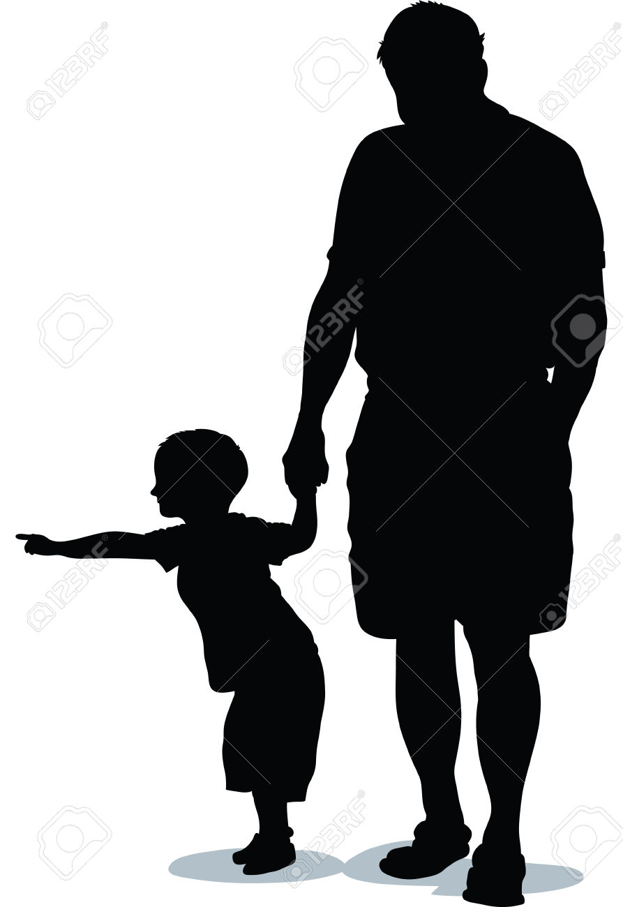 893x1300 29636434 A Silhouette Of A Child Pointing While An Adult Holds His