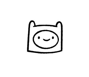 360x313 Adventure Time Finn The Human Rubber Stamp