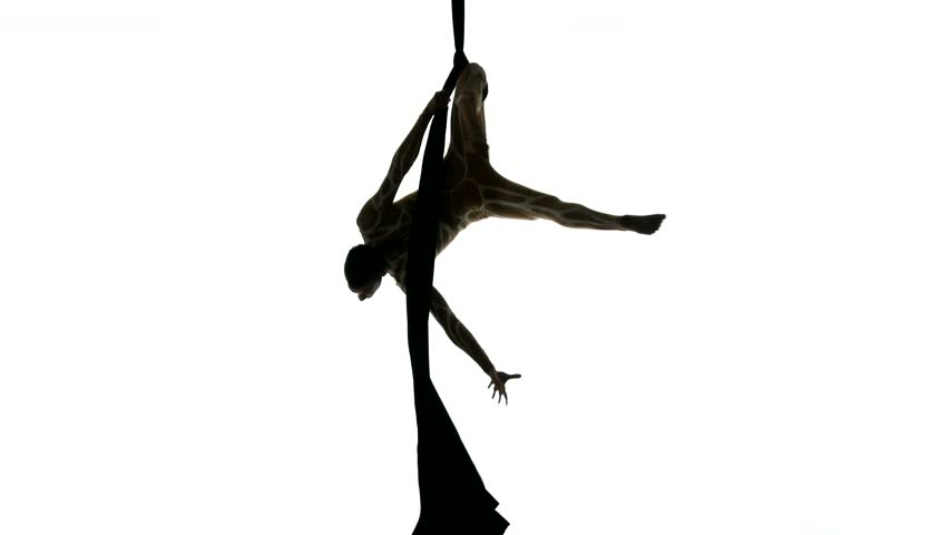 852x480 Man Dancer On Aerial Silk, Aerial Contortion, Aerial Ribbons
