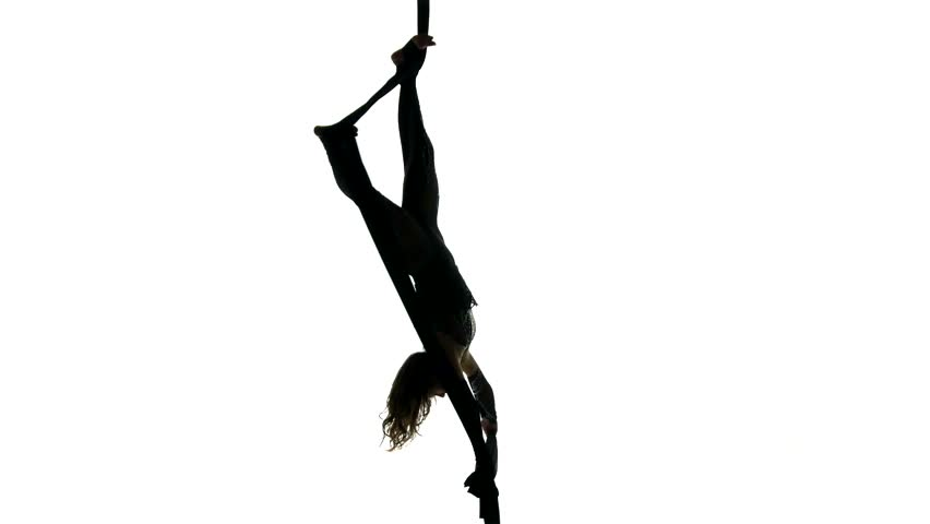 852x480 Woman Dancer On Aerial Silk, Aerial Contortion, Aerial Ribbons