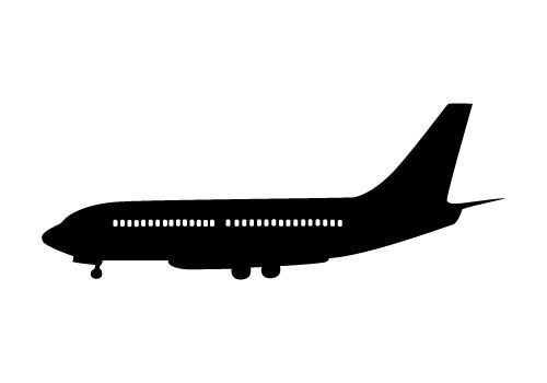 500x350 Airplane Silhouette Vector Free Download Silhouette Clip Art
