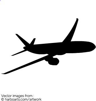 335x355 Download Plane Silhouette