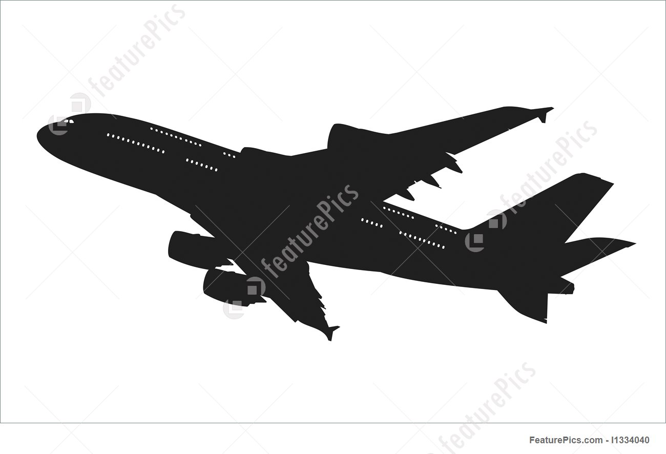1300x886 Airliner Silhouette Illustration