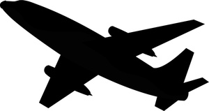 300x159 Airplane Silhouette Clip Art Pack Download Free Airplanes, Clip