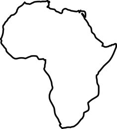 Africa Map Silhouette at GetDrawingscom Free for personal use