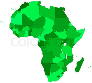 320x288 Silhouette Contour Map Of The Africa. All Objects Are Independent