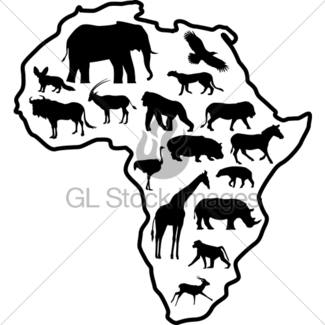 325x325 Wild Africa Silhouette Gl Stock Images