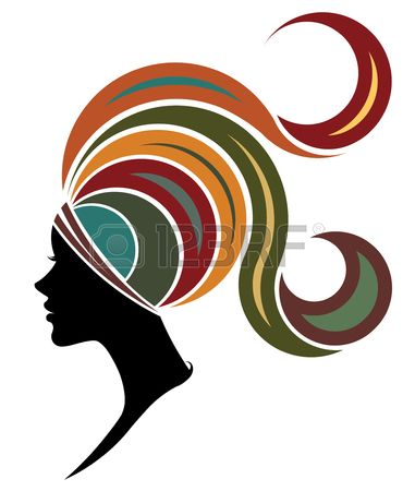 381x450 Illustration Of African Women Silhouette Fashion Models On White