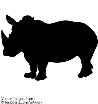 335x355 Download Rhinoceros Silhouette