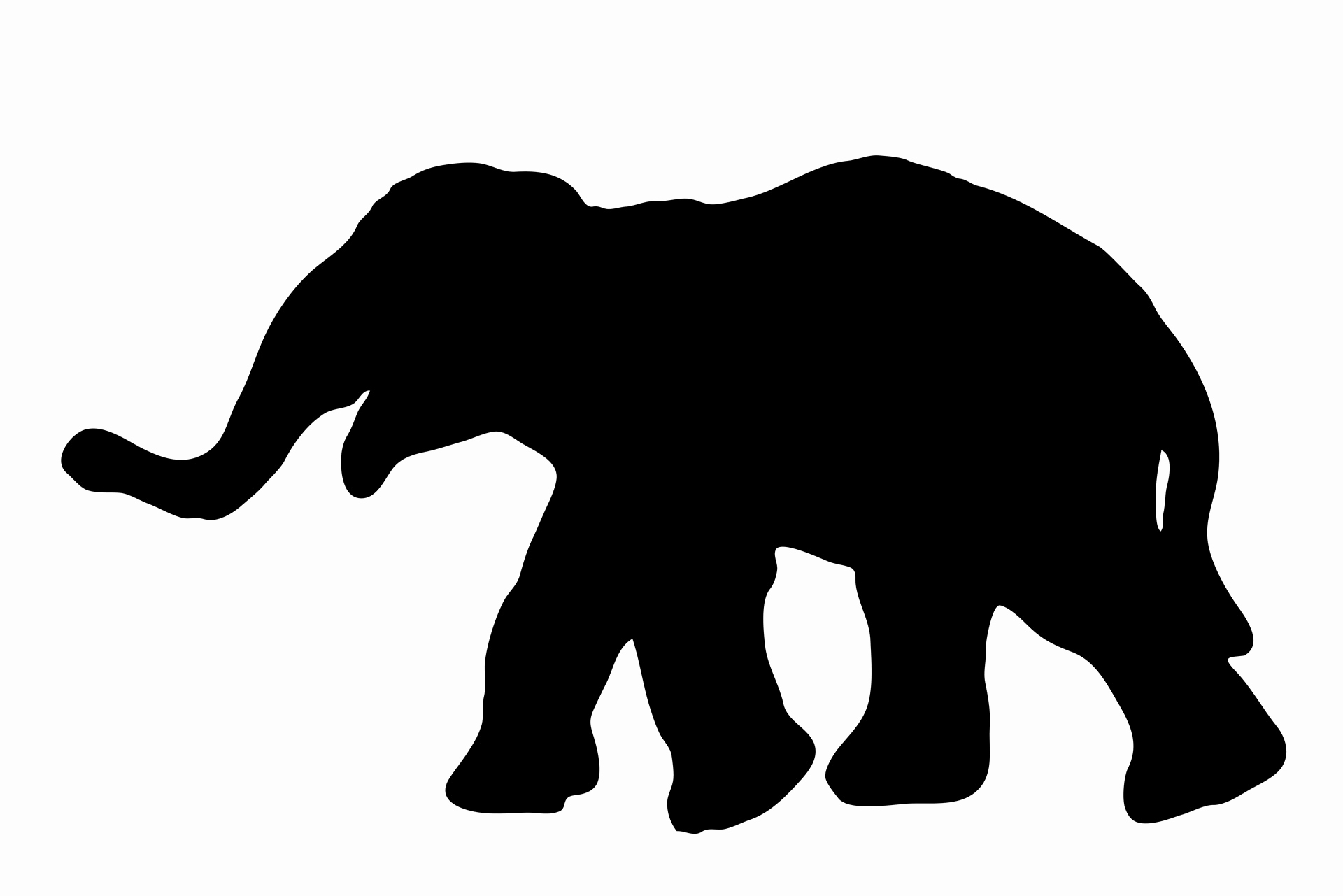1920x1281 Elephant With Trunk Up Silhouette Beautiful Set Of Editable Vector