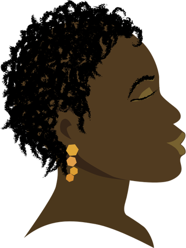 375x500 African American Female Silhouette Profile Vector Image Public