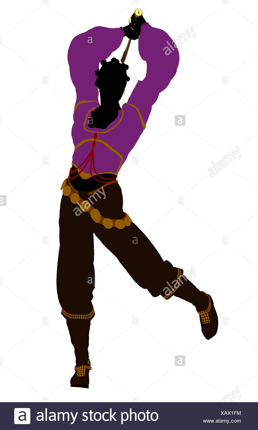 834x1390 African American Female Pirate Silhouette Stock Photo 282084424