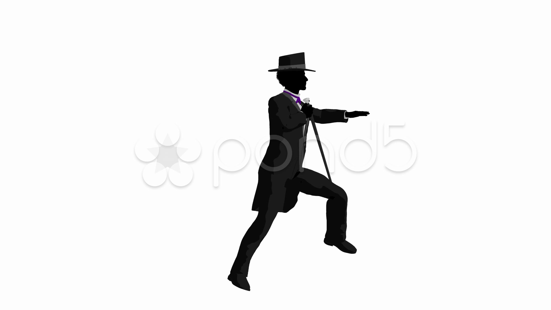 1920x1080 African American Male Tap Dancer Dancing On A White Background
