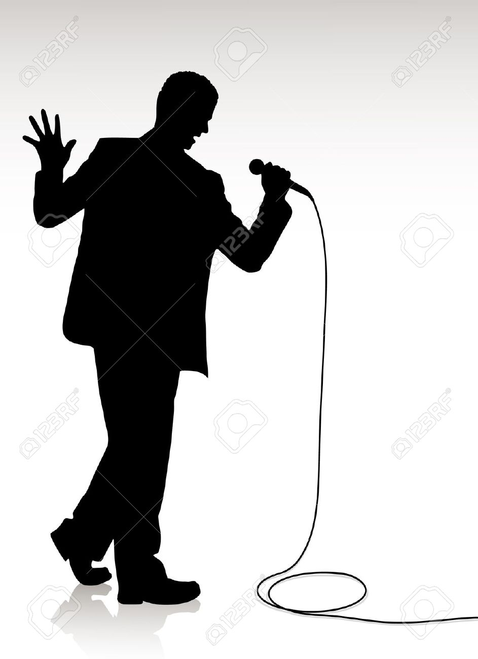 943x1300 Clipart Of A Silhouette Of An African American Male Singing Collection