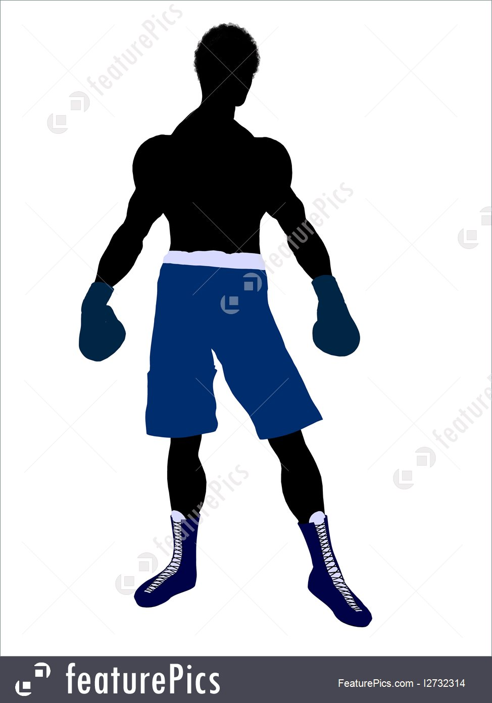 974x1392 Fighting Sport Male Boxer Silhouette