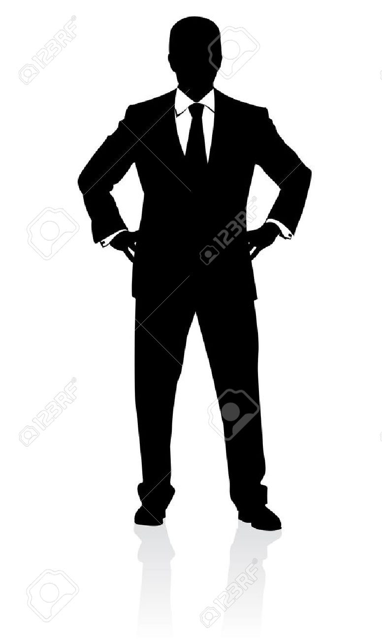 776x1300 African American Man Dressed In A Tuxedo Silhouette Illustration