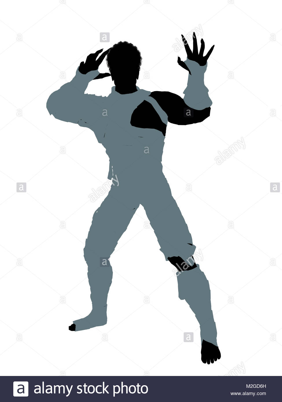 975x1390 African American Male Mummy Silhouette Illustration On A White
