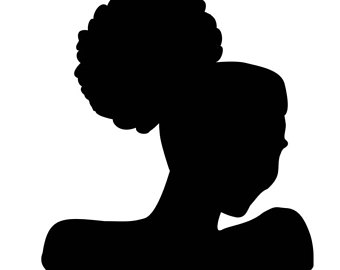 340x270 Girl Afro Puffs Svg Silhouette Clip Art Black Girl Afro Puff