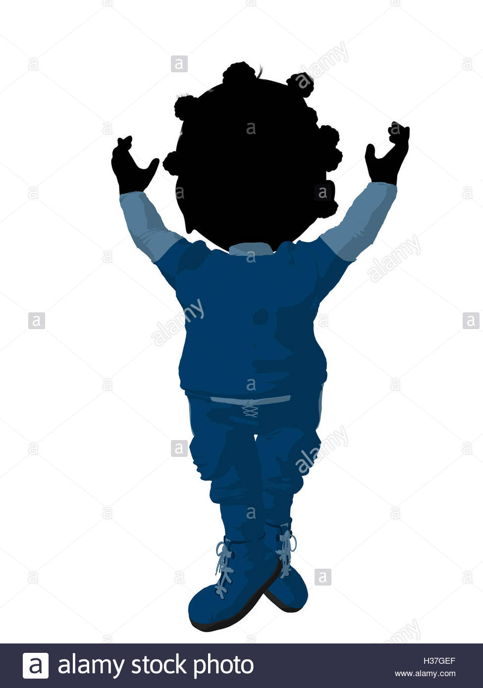 975x1390 Little African American Football Girl Illustration Silhouette