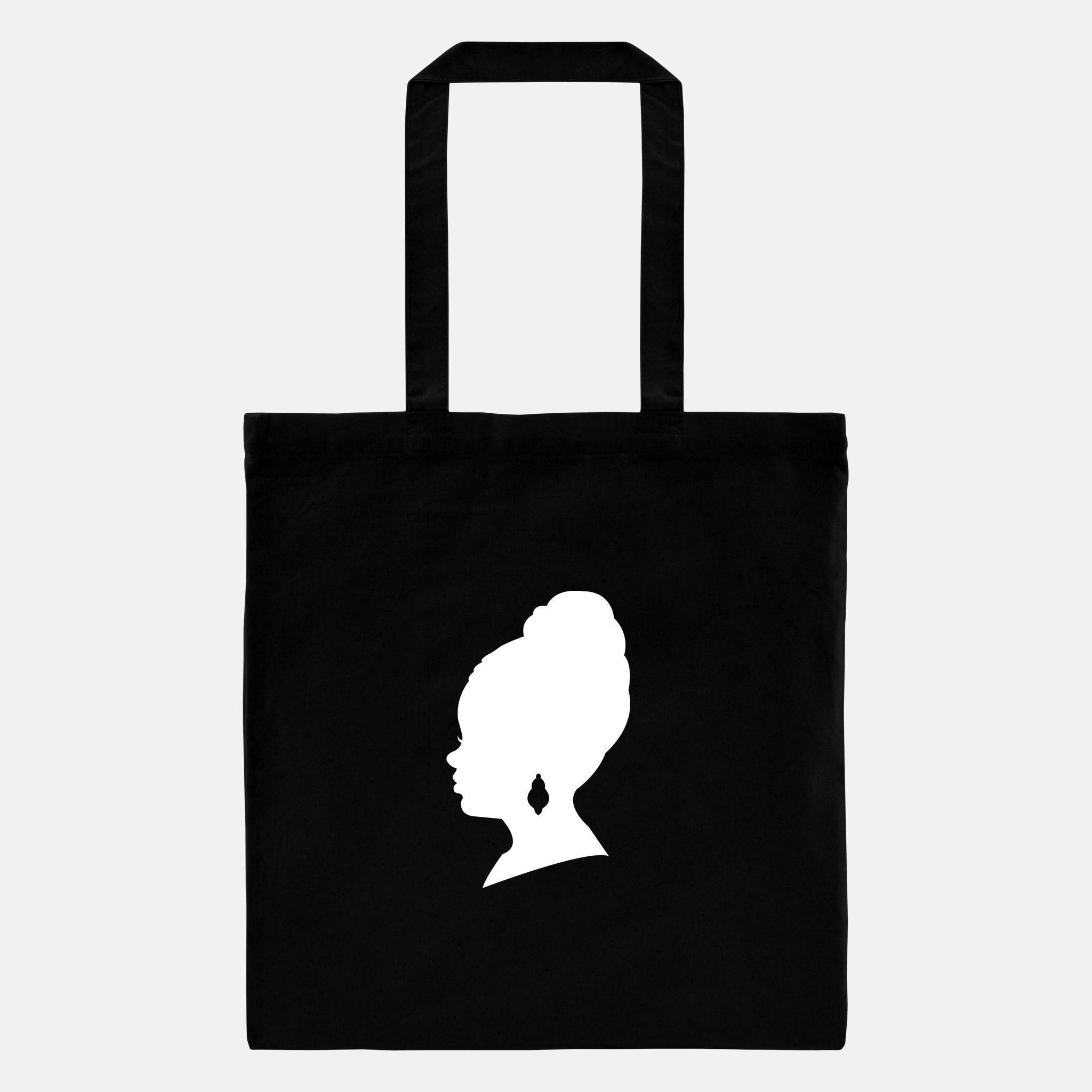2048x2048 Personalized Name Tote, African American Silhouette, Personalized