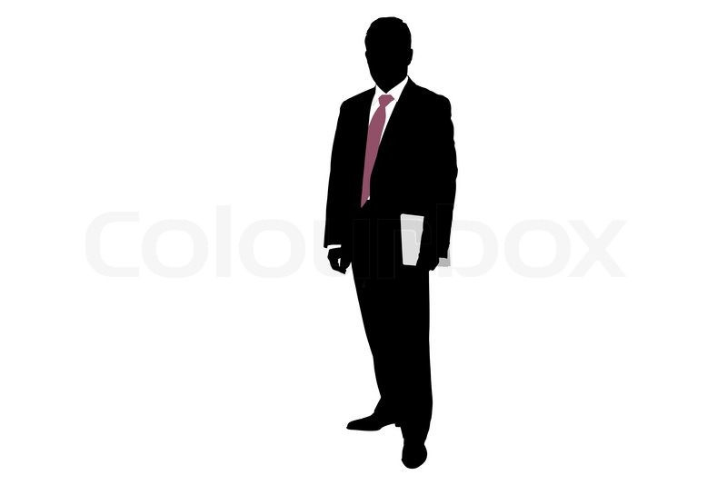 800x534 Clipart Of A Silhouette Of A Young African American Male In A Suit