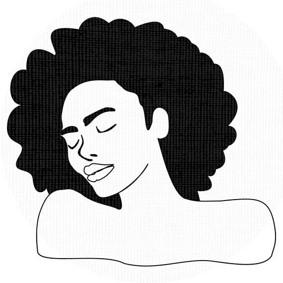 570x570 Black Woman Afro Silhouette Svg Clip Art Natural Nappy Curly