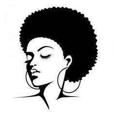 236x236 Natural Hair Silhouettes Art Silhouettes, Natural