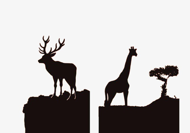 650x454 African Wildlife Silhouette, Animal, Sketch, Simple Wind Png Image
