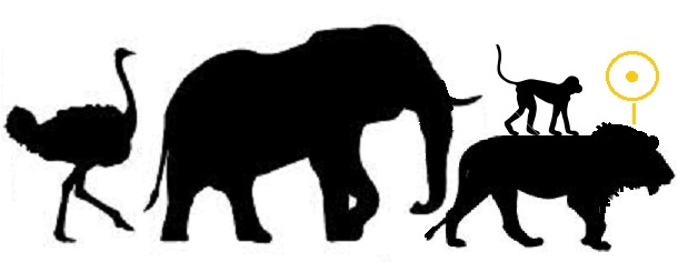 619x236 8 African Animal Silhouettes Vector Images Free Images