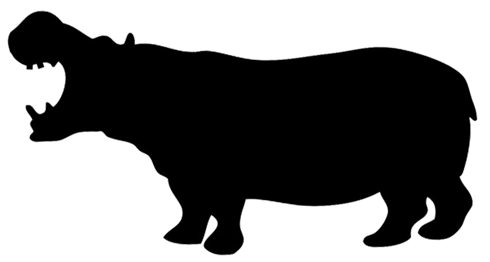 1004x538 Silhouette Of Hippo Silhouettes