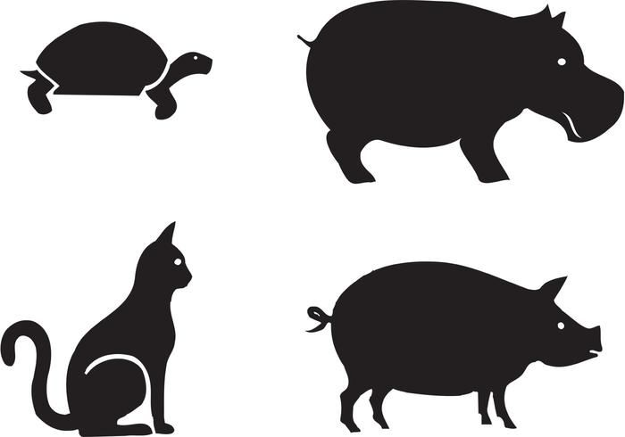 700x490 Free Animal Silhouettes