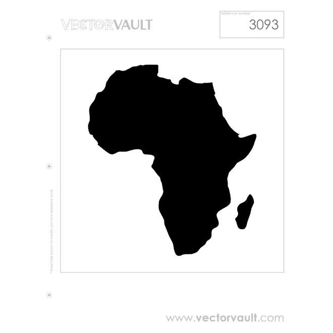 660x660 Africa Vector Map