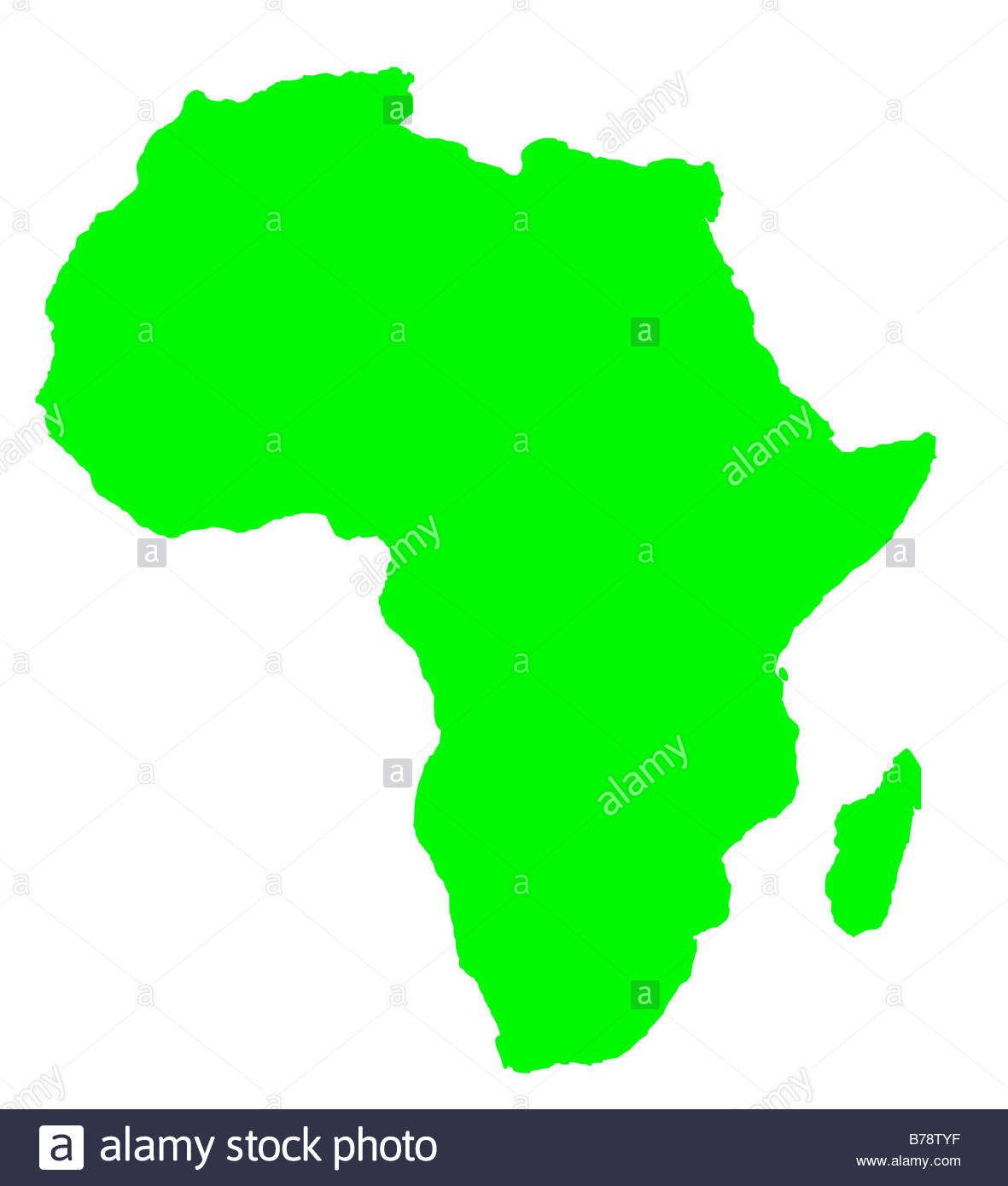 1181x1390 Outline Map Of Africa Continent In Green Isolated On White
