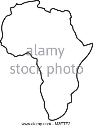 300x410 Silhouette Of African Continent, Isolated On White Background