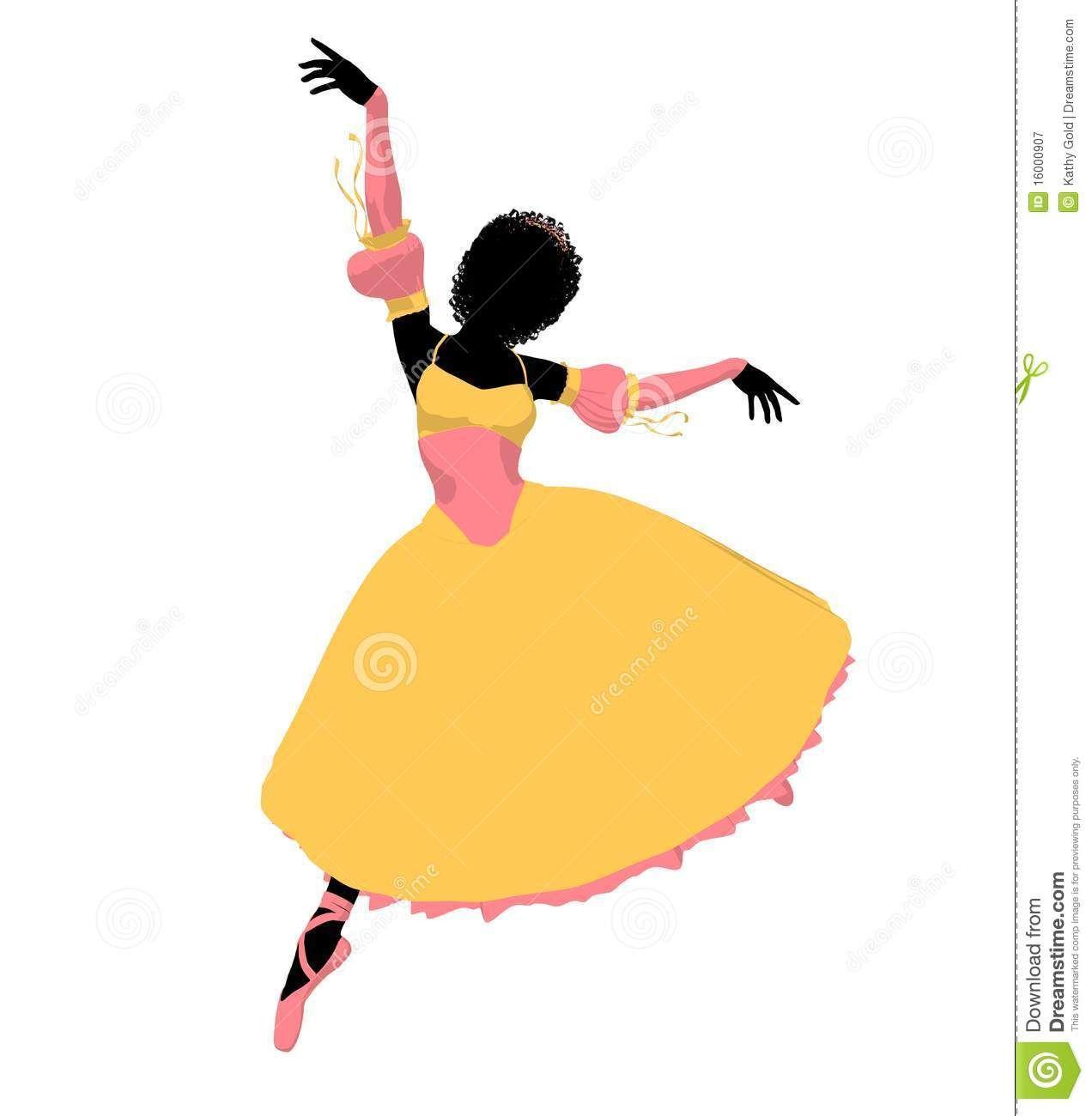 1272x1300 African Dancer Silhouette African American Ballerina