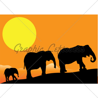 325x325 African Sunset With Animals Gl Stock Images