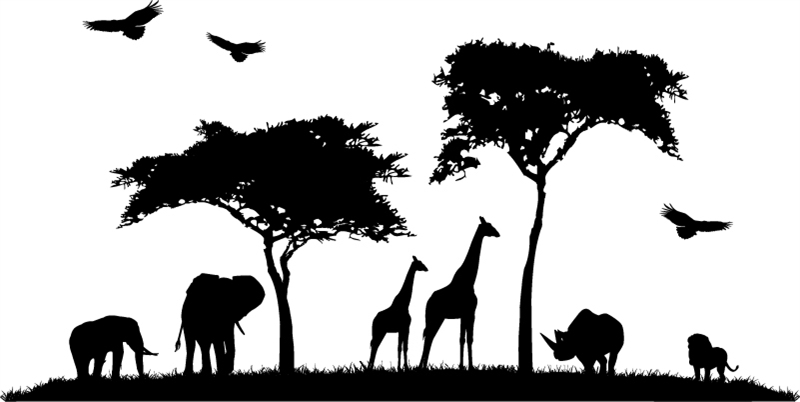 African Landscape Silhouette At Getdrawings Free Download