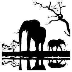 236x236 Z Elephant Silhouettes Animals Savanna