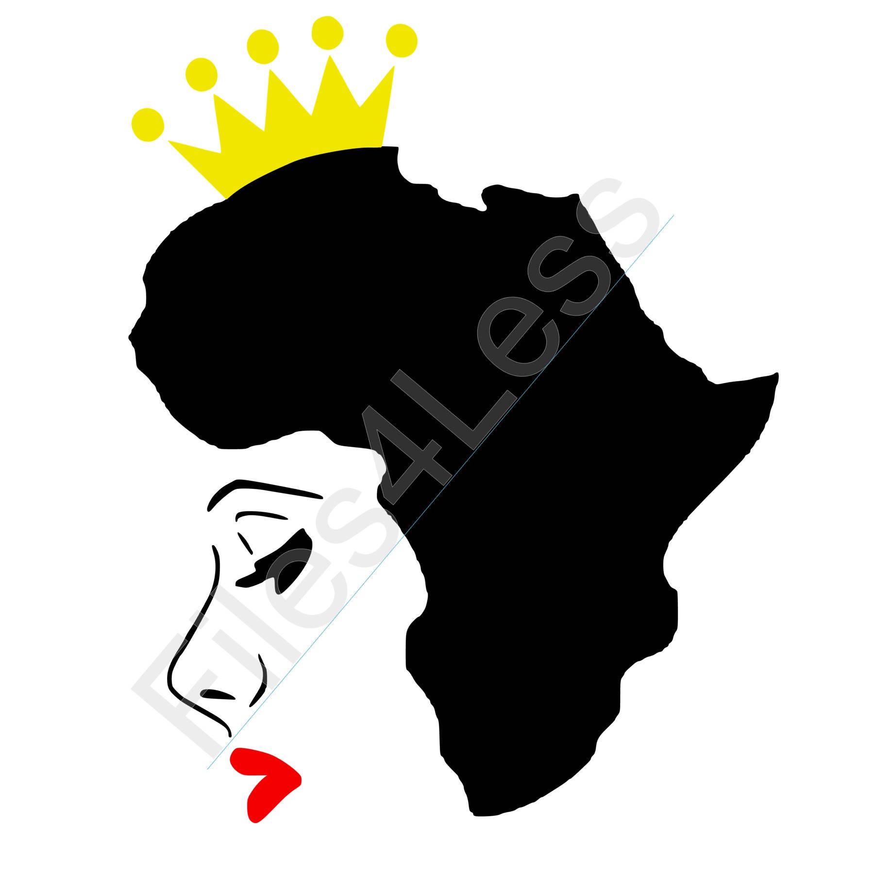 African Queen Silhouette