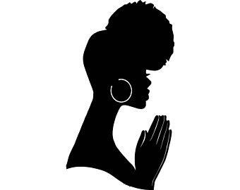 340x270 Women Praying Bun Nubian Princess Queen Afro Hair Beautiful