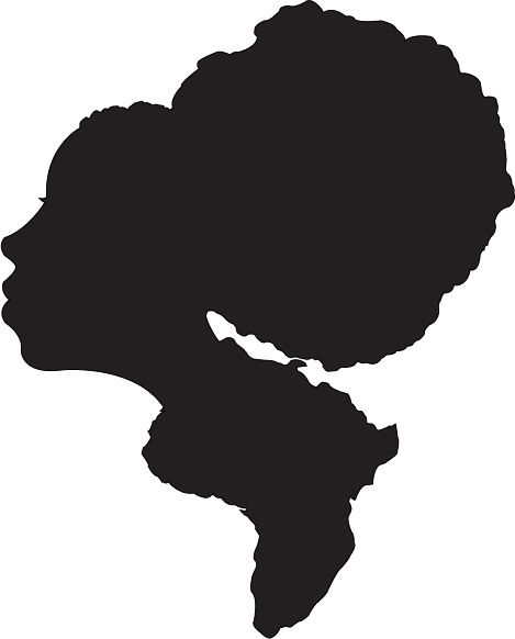 469x582 Afro Silhouette