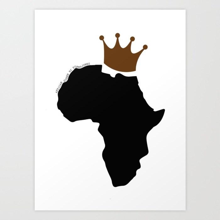 700x700 African Queen Art Print By Poemajones Society6