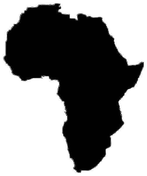 504x600 Africa Silhouette Clip Art