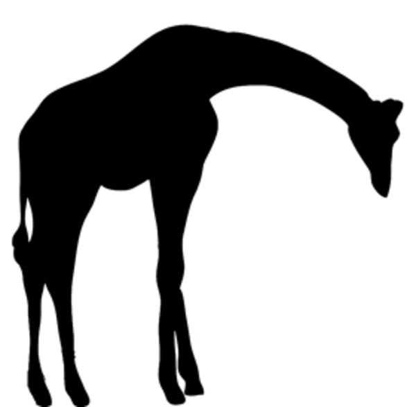 600x587 Giraffe Silhouette Clip Art