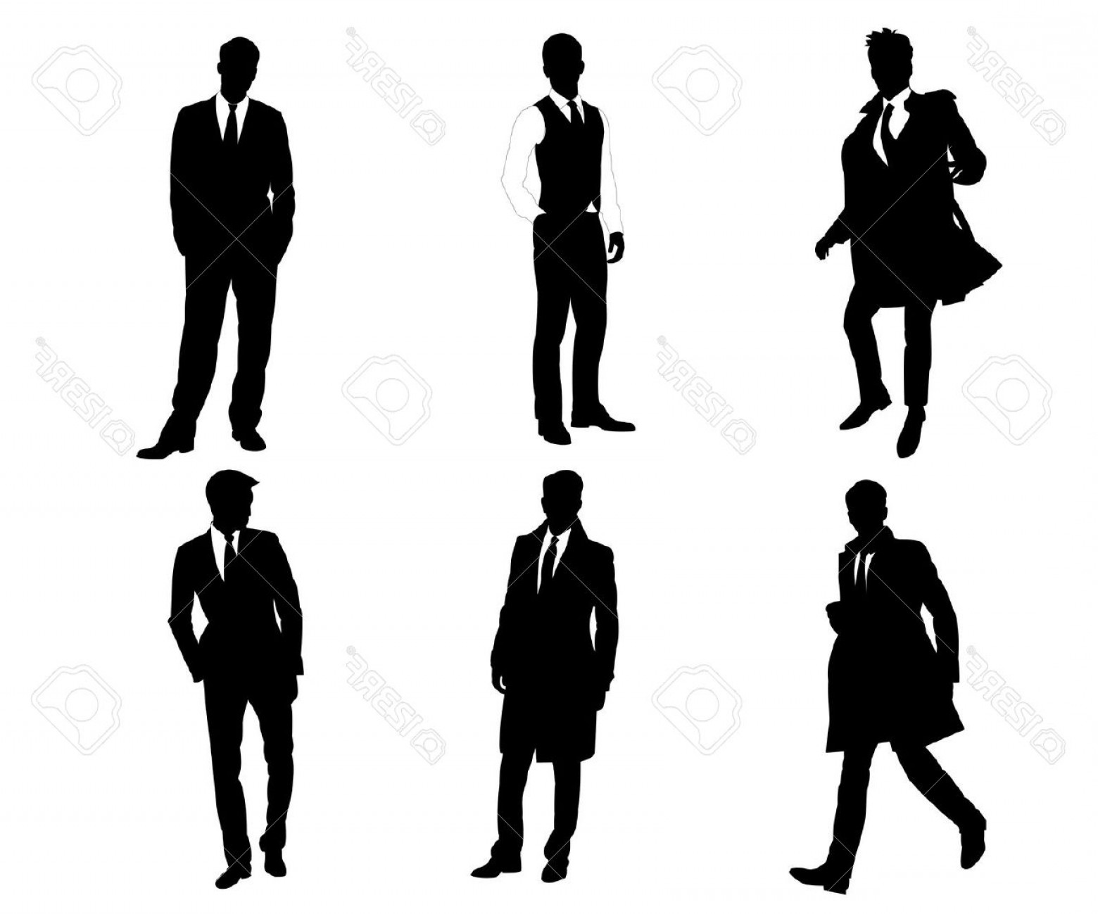 1560x1299 Clipart Of A Silhouette Of A Young African American Male In A Suit
