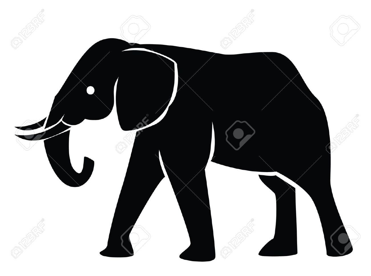 1300x967 Elephant Silhouette African Christmas Elephant