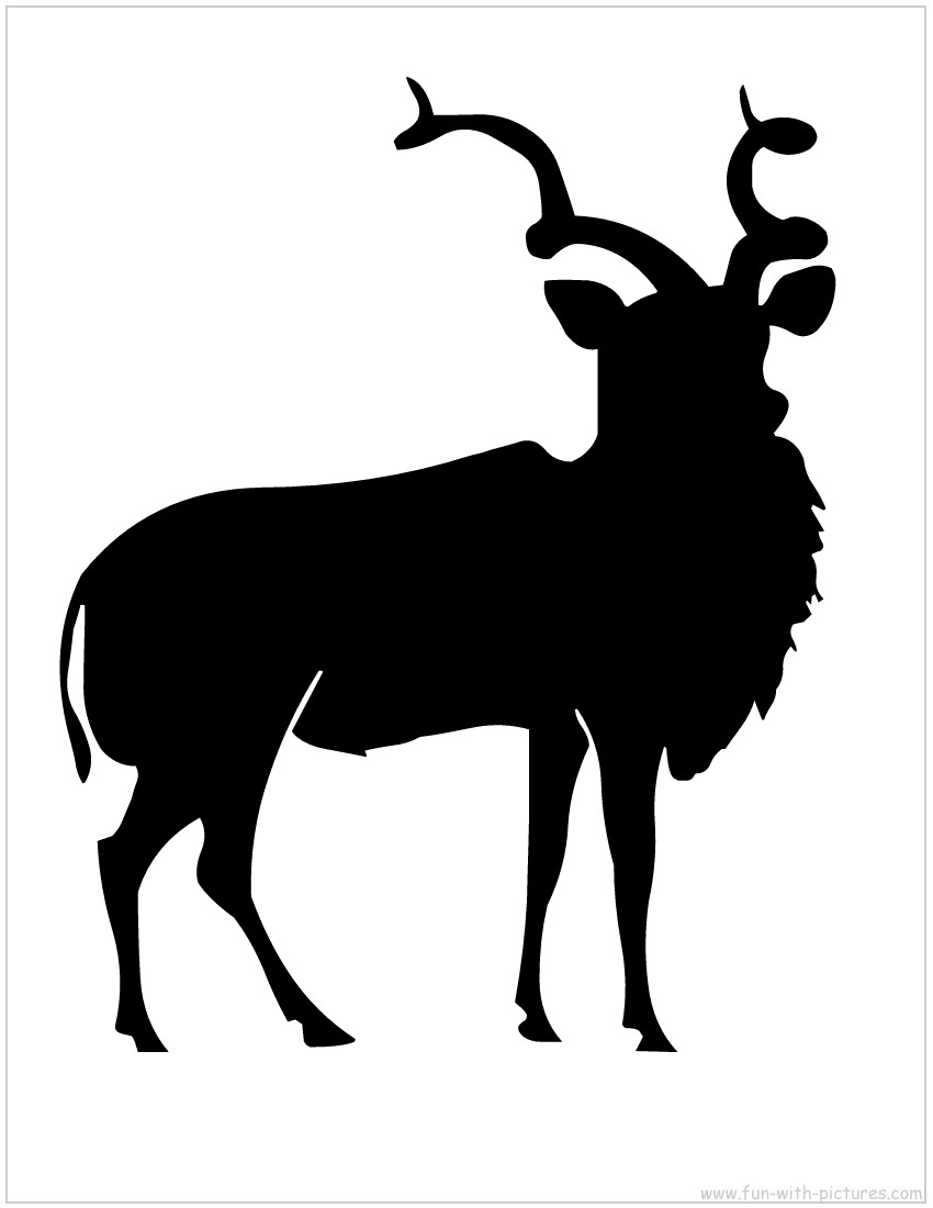850x1100 African Animal Silhouette Clipart
